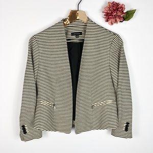 [ANN TAYLOR] Striped Open Front Blazer